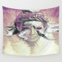 women Wall Tapestries featuring Fantasy Women by WonderfulDreamPicture