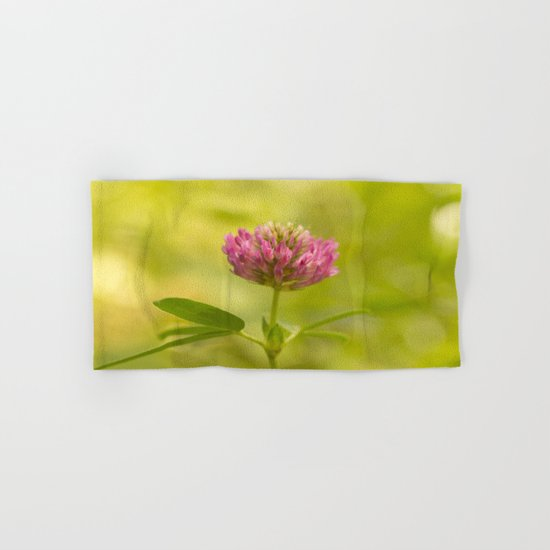 Red clover in August Hand & Bath Towel