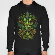 Tropical Symmetry – Olive Green Hoody