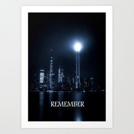 twin towers-remember Art Print