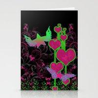 kingdom hearts Stationery Cards featuring Kingdom Stars Hearts by KingdomStarsClothing