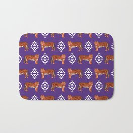 Tiger Clemson purple and orange university fan varsity college football Bath Mat