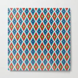 Diamond Geometric Bead Pattern Metal Print