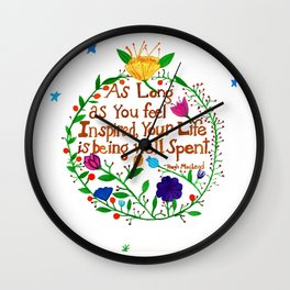 Live an Inspired Life Wall Clock