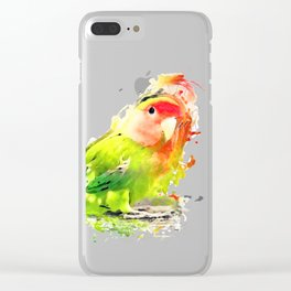 Lovebird Clear iPhone Case