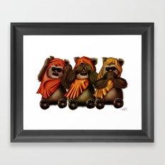 STAR WARS The Three Wise Ewoks Framed Art Print