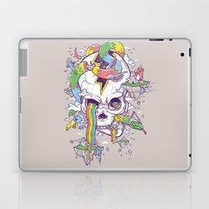 Flying Rainbow skull Island Laptop & iPad Skin