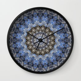 Blue Water Mandala Wall Clock