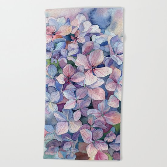 Hydrangea Beach Towel