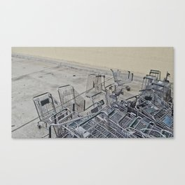 Cart Shopping Canvas Print