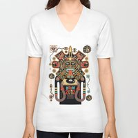 spirit V-neck T-shirts featuring Mayas Spirit - Boom 2012 by Exit Man