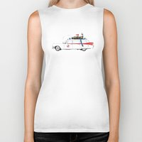 ghostbusters Biker Tanks featuring Ghostbusters - Car by V.L4B