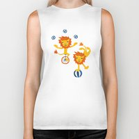 lions Biker Tanks featuring Lions by Kendra Shedenhelm