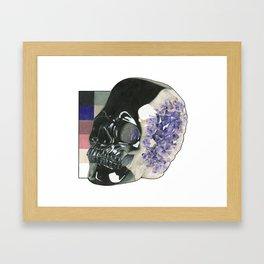 Amethyst Skull Framed Art Print