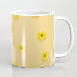 Yellow background with Daisies Coffee Mug