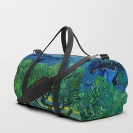 Olive Trees by Vincent Van Gogh Oil Painting Duffle Bag