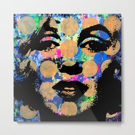 Mrs. Marilyn Hollywood POP ART CELEBRITY MOVIE STAR ART PAINTING Metal Print