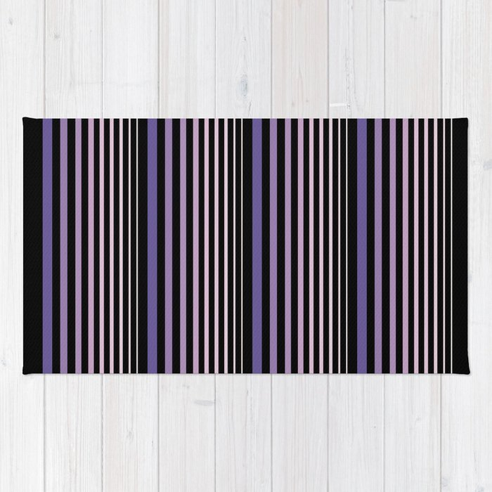 Midnight Stripes Rug