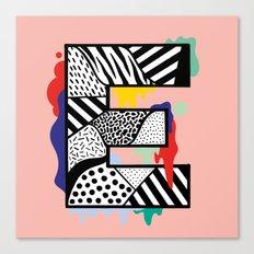 E for …. Canvas Print