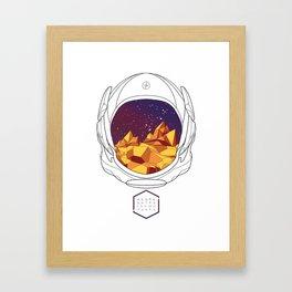 Helmet II (Purple Space) Framed Art Print