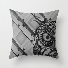 Gray Owl Throw Pillow