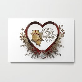 Merry christmas-decoration Metal Print