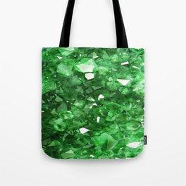 EMERALD GREEN CRYSTALS  MAY BIRTHSTONE Tote Bag