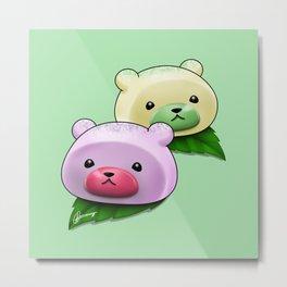 Mochi Bears Metal Print