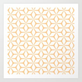Geometric Petals Yellow Art Print