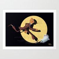 tintin Art Prints featuring Tintin by David Pavon