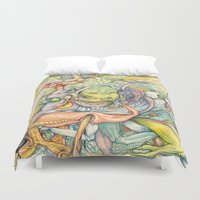 insect Duvet Covers featuring Compositions insect by Maethawee Chiraphong