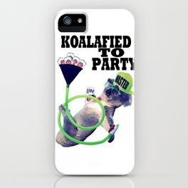 koalafied to party iPhone Case