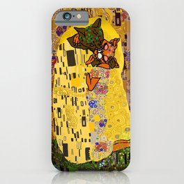 Kiss Klimt Cats iPhone Case