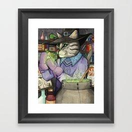 A Cat's Magic Framed Art Print