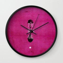 You Goal Girl — Pink Wall Clock