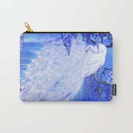 White Peacock at Twilight Carry-All Pouch
