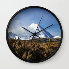 Mt Ngauruhoe Wall Clock