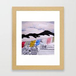 Rooftops of Boudha Framed Art Print