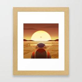 Star: Sunset Framed Art Print