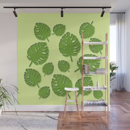 tropical leafs in spring Wall Mural