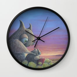 Poppa Bear Wall Clock