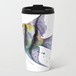 Angelfish, tropical fish, angel fish, animal art prints Metal Travel Mug