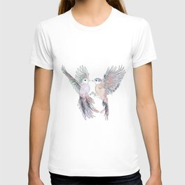 Birds in love tropical bird home decor T-shirt