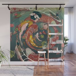 Ukiyo-e tale: The creative circle Wall Mural