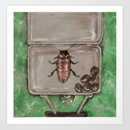 Cockroaches and Coffee beans Art Print