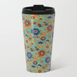 Flowers in colors Metal Travel Mug