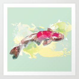 Fish Digital Art Print Art Print