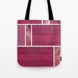 Burgundy Squares Tote Bag