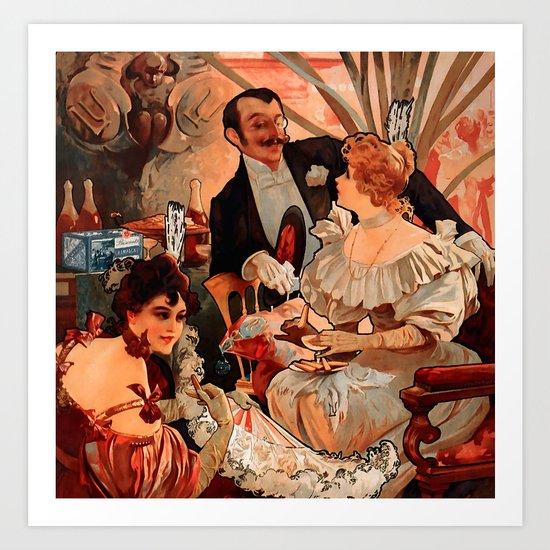 Giclee Canvas Print 20x27 Biscuits Lefevre Utile Vanille Alphonse Mucha