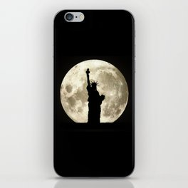 Full Moon Liberty Silhouette  iPhone Skin